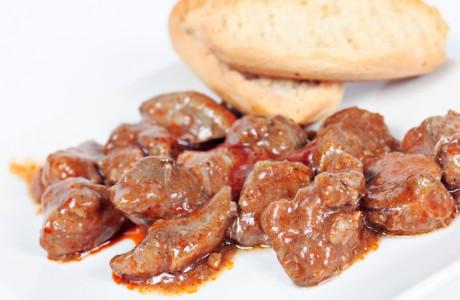 Hígado de pollo en Salsa - Caracoles Marín